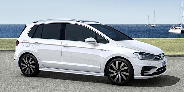 vw golf sportsvan bald auch mit r line design autokiste. Black Bedroom Furniture Sets. Home Design Ideas