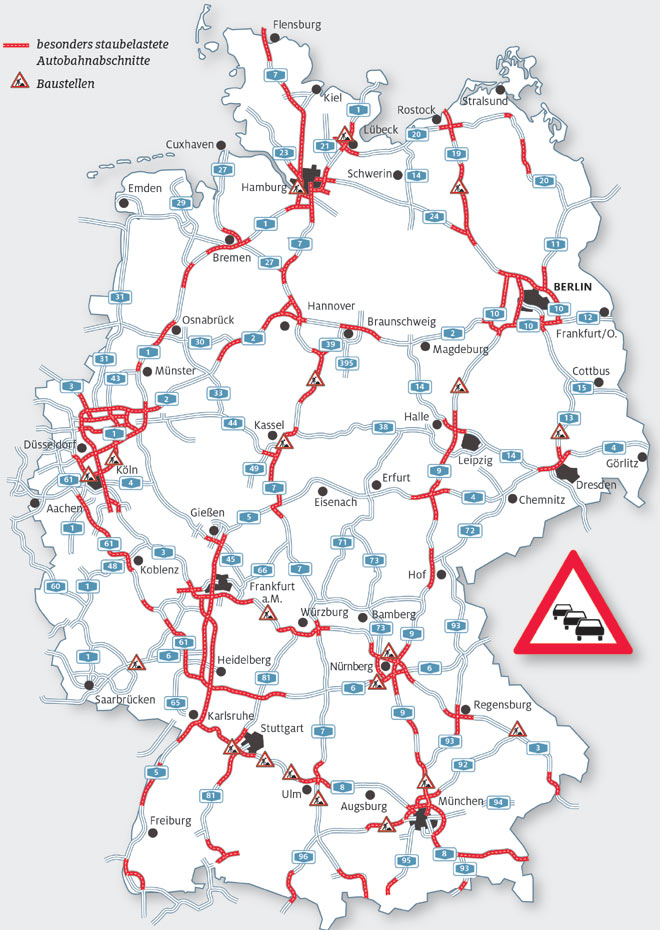 Autobahnkarte Deutschland Kostenlos