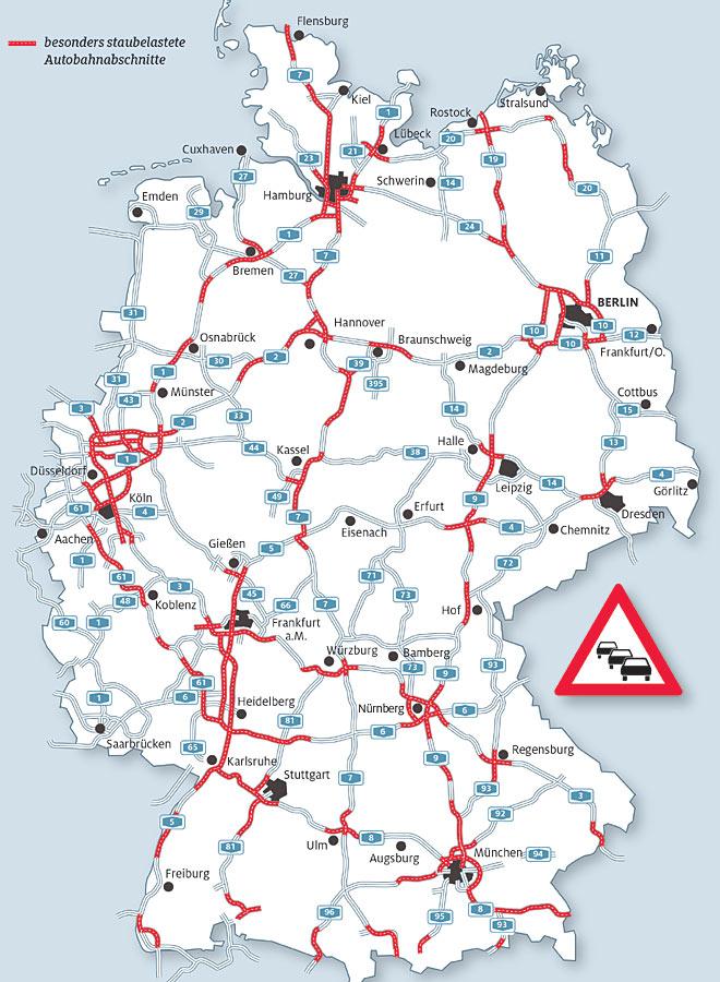 karte autobahn deutschland