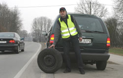 frankreich warnweste auto